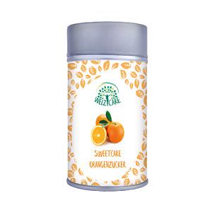 SweetCare Zuckerstreuer Orange, mit Erythritol (Erythrit), Stevia und Orange