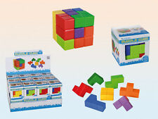 Cube Building Puzzle Mind Game Kids Adults Toy Christmas Gift Stocking Filler