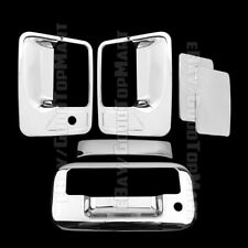 For Ford F250 F350+SUPER DUTY 2008-2016 Chrome Covers Set 4 Doors w/o+Tailgate W