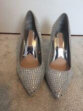 Ladies Sparkly Silver Stiletto Heels size 3