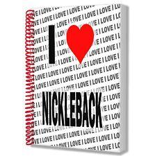 I Love Nickleback - A5 Notebook Pad Diary Drawings Birthday Christmas Gift