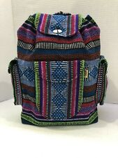 RASTA Bag Beach Hippie Baja Ethnic 3 pockets Backpack Made in Mexico Unisex 005