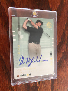 RARE 2002 SP AUTHENTIC  #110 PHIL MICKELSON  AUTO RC 454/799 GOLF CARD
