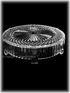 STUNNING 16 INCH QUALITY LEAD CRYSTAL VERY HEAVY WEDDING CAKE STAND