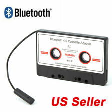 Bluetooth Car Tape Cassette Audio Adapter Converter for iPhone iPod Mp3 White