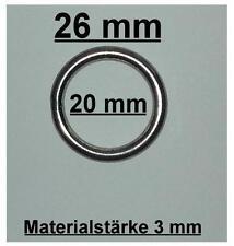 5 Stk.  Ring Edelstahl  AISI316 V4A A4  Gardinenringe geschweißt 3 x 20 mm