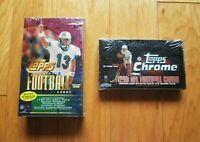 1999 Topps + Chrome Factory Sealed Football Box