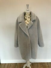 Gorgeous Grey Silver Faux Fur Teddy Coat Primark Size 16, Worn Once