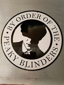 "PEAKY BLINDERS 14"" ROUND METAL SIGN/ MAN CAVE/ GARAGE/ SHED/ BAR."