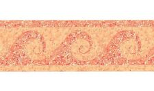"Swirl Wave Wallpaper Border Orange Yellow Paint Speckles Splatter 2 3/4"""