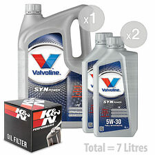 Engine Oil and Filter Service Kit 7 LITRES Valvoline SynPower FE 5w-30 7L
