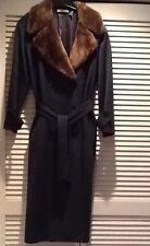 CACHAREL Paris Womens Designer 100% WOOL Trench Coat SZ 36 US 4 Hunter Green
