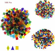 1000 piece Tiles Mixed Color Mosaic Glass Pieces for Home Decoration or Crafts