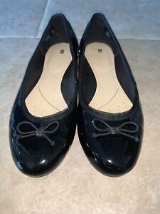 Black Clarks Ballet Pumps Size 5