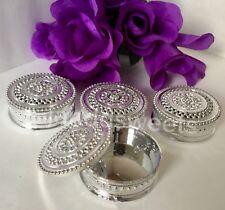 12-Wedding Favor Table Decorations Silver Trinket Box Recuerdos Boda Decoracion