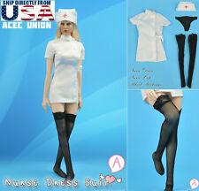 1/6 Sexy Nurse Uniform Dress Set A For Phicen Hot Toys Female Body U.S.A. SELLER