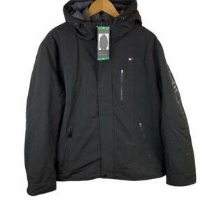 Tommy Hilfiger 3-in-1 System Black Hooded Winter Jacket Men's Size XL