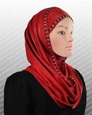 Slip on Hijab Metallic stretchy Scarf NEW Shawl Wrap Muslim Headcover 180x75 CM