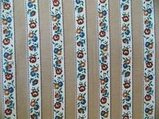 Fabric Vintage Floral Flower Garden Country Shabby Ticking Stripe Quilting