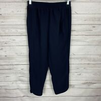 J.CREW Womens Reese Pants Size 2P Dark Blue Pull On Ankle
