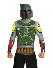 Star Wars Mens Boba Fett Mask and Top Costume, Large, CHEST 42 - 44""