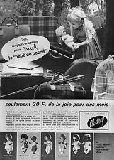 ▬► PUBLICITE ADVERTISING AD Mick Bébé Baby de poche CLODREY