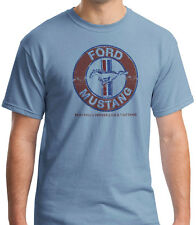 Ford Mustang Nothing Moves Like a 70's Coche Clásico Piedra Azul Camiseta