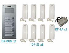 COMMAX Audio Intercom for 8-Apartment Building: DR-8UM x1, DP-SS x8, RF-1A x1