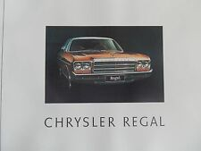 1976 CL CHRYSLER VALIANT REGAL BROCHURE INC 'RARE' CLR/TRIM CARD 100% GUARANTEE