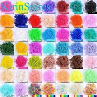 Rubber Loom Kit Bands 600 PCs 24 Clip Refill Rainbow Solid Transparent Coloured