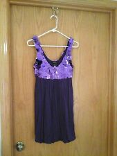 Arden B women's purple sleeveless cocktail dress,petite XS, polyester - spandex