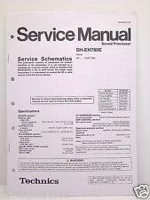 Technics Original Service Manual Schematics SH-EH780E Sound Processor