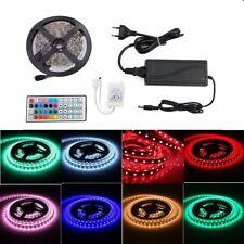 LED Streifen Set 5M 5050 RGB LED Strip Band Lichterkette+Kontroller+5A Trafo
