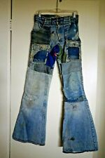 Vintage Hippie Patched Levis Denim Jeans Flare As-Is