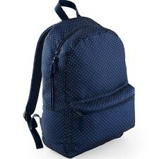Backpack Rucksack Women's Girls School Student College Bag Blue Polka Dot
