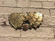 antique vintage silver sweetheart lovers brooch by MIZPAH birmingham silver