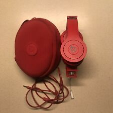 Beats by Dr. Dre Red Solo HD Wired Headphones w/ Case and Cord