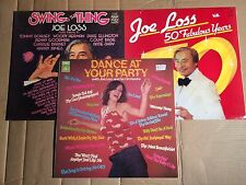 JOE LOSS - SWING IS THE THING / 50 FABULOUS YEARS / DANCE AT YOUR PARTY - 3 LP