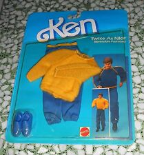 KEN OUTFIT TWICE AS NICE REVERSIBLE FASHIONS  SHOES ACCESSORIES CARD 2305 MOC