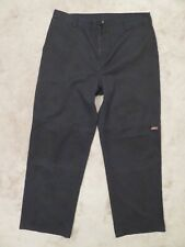 Used/Worn DICKIES Cell Pocket PANTS Mens 38x31 Black Casual Twill Double Knee