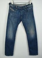 DIESEL SLAMMER 008JS Men's W32/L32 Stretchy Leather Trim Jeans 21410_JS