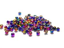25 Rainbow Hued Brass Fly Tying Beads (Size 2.4 mm)
