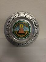 "Vtg Wilton Pewter Plate The Great Seal of the United States of America 11"" EUC"