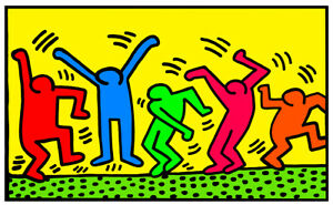 Keith Haring DANCE 1987 Limited Edition High Quality Giclee Print