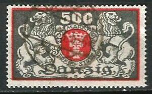 Germany Danzig 1923 Used - State Arms Large Horizontal Format - Mi 120 SG-103