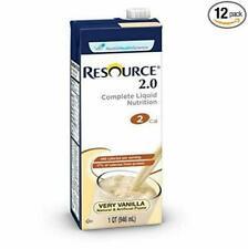 Resource 2.0 Complete Liquid Nutrition 27600000 32 oz Case of 12, Very Vanilla