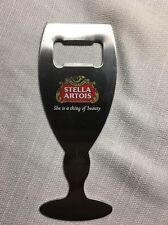 """(AW2) STELLA ARTOIS """"SHE IS A THING OF BEAUTY"""""""" METAL 6"""" BEER BOTTLE OPENER"""