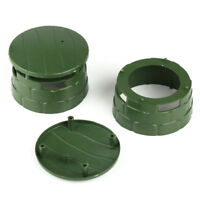 2 pcs  Military Round Bunker Blockhouse Plastic Toy Soldier Army Men Accessories