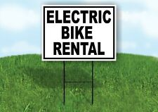 Electric Bike Rental Black White Yard Sign With Stand Lawn Sign
