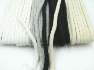 5 M Cotton Cord Cotton Cord/paspelgeflecht 4 Colours (0,80 €/M)